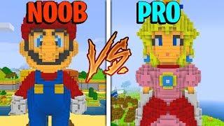 Download Minecraft NOOB vs. PRO: SUPER MARIO BROS in Minecraft! Video