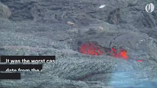 Download Hawaiian 'lava bomb' injures dozens in terrifying boat incident Video