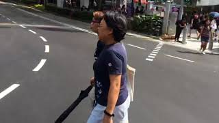 Download Scramble crossing at Orchard Road Video
