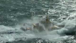 Download Schepen op de Noordzee, voor de kust van Hoek van Holland. Video