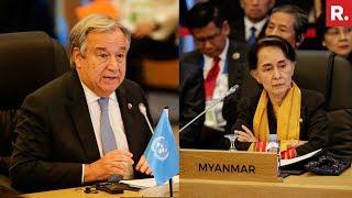 Download UN Chief Meets Myanmar's Suu Kyi On Rohingya Crisis Video