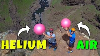 Download Exercise Ball Magnus Effect: HELIUM VS. AIR from 200m! Video