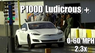 Download Tesla P100D Ludicrous Plus - How Fast Can It Possibly Be Drag Racing? Faraday Future Killer Video