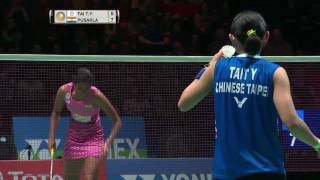 Download Yonex All England Open 2017 | Badminton QF M1–WS | Tai Tzu Ying vs Pusarla V. Sindhu Video