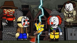 Download PENNYWISE vs FREDDY KRUEGER and JASON VOORHEES | Scribblenauts Unlimited Gameplay PART 2 Video