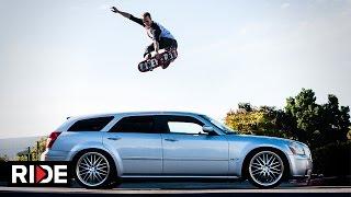 Download Cars of Skateboarding - Host Alec Beck Jumps His Dodge Magnum RT Video