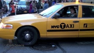 Download NYPD Undercover Police Taxi Responding Lights and Siren Video