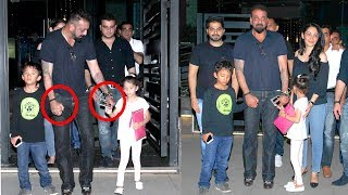 Download Sanjay Dutt Becomes CUTE Father- Walks Holding Children's Hands - Shahraan & Iqra Video