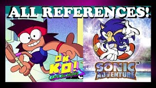 Download ALL SONIC REFERENCES/EASTER EGGS! | O.K. K.O. Let's Be Heroes Video