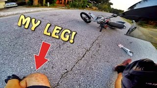 Download I CRASHED MY PIT BIKE... Video