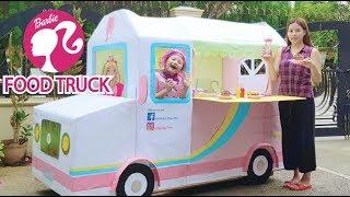Download Barbie Life Size Food Truck ! Box Fort Restaurant ! Video