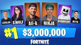 Download Playing in the WORLD'S BIGGEST Fortnite Tournament! (w/ Ali-A, Ninja, Lachlan, Myth + MORE) Video