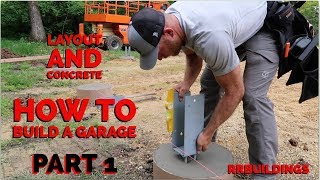 Download How to Build a Garage #1 - Layout and Concrete Piers Video