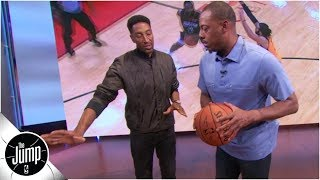 Download How to defend the step-back: Scottie Pippen demonstrates on Paul Pierce | The Jump: OT Video