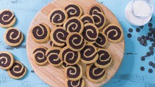 Download Vanilla Chocolate Swirl Cookies Recipe Video
