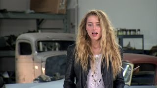 Download Amber Heard Tears Up Over Her Awesome New Car on 'Overhaulin'' Video