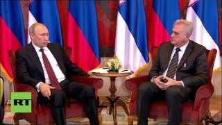 Download Serbia: Putin warmly tells Nikolic 'Russia doesn't sell friendship' Video