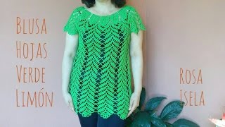 Download Blusa Hojas verde limón parte 1 Video