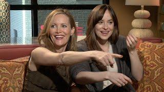Download Dakota Johnson and Leslie Mann Hit On ″Hot″ Reporter Video