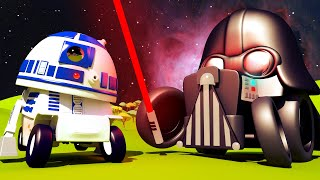 Download STAR WARS SPECIAL Baby Francis the FORKLIFT is R2D2 from Star Wars! Tom's Paint Shop in Car City 🎨 Video
