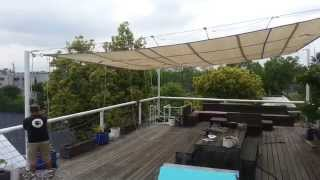 Download Retractable sun shade by Bahama Rigging Video