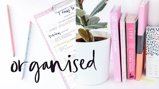 Download 7 Days To Organised | Organise Your Life in Only 7 days & Free Printable! Video