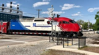 Download 6 Track Pedestrian Railroad Crossing In No Train Horn Zone! Video