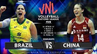 Download Brazil vs. China   Highlights   Women's VNL 2019 Video