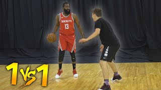 Download 1 V 1 BASKETBALL VS NBA SUPERSTAR JAMES HARDEN! Video