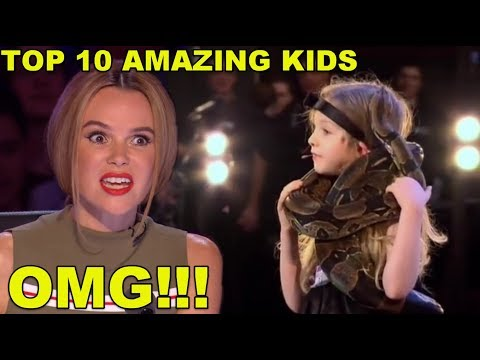 [MOST AMAZING KIDS] BEST TOP 10 AUDITIONS EVER ON BRITAIN'S GOT TALENT!