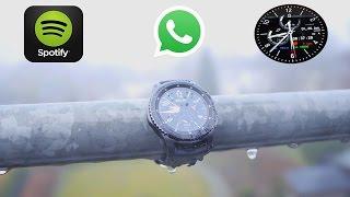 Download BESTE SMARTWATCH Gear S3 mit WhatsApp!? Spotify!! TechCheck mit besten Watchface Video