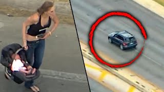 Download Woman With Baby in Car Leads Texas Police on High-Speed Chase Video