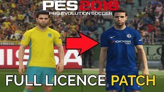 Download PES 2018: How to Install Official Team Names, Kits, Logos, Leagues & More Video