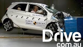 Download Kia Picanto Gets Surprise Crash Test | Drive.au Video