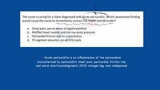 Download NCLEX Practice item: Acute pericarditis and then THIS?! Video