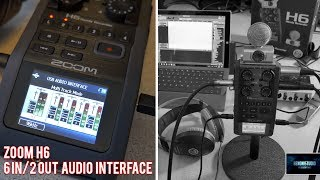 Download ZOOM H6 | USE AS AN AUDIO INTERFACE [6in/2out] Video