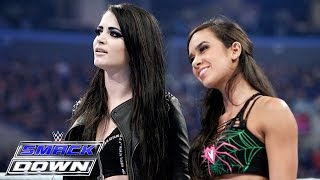 Download AJ Lee & Paige unite in a war of words with The Bella Twins: SmackDown, March 26, 2015 Video