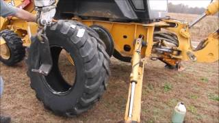 Download New Tires For The Backhoe Video