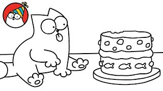 Download Purrthday Cake (A 10th Birthday Special) - Simon's Cat   BLACK & WHITE Video