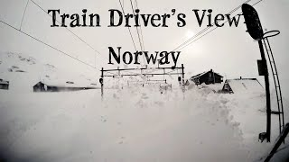 Download Train Driver's View: ″Stormy″ winter conditions on the mountainpass (Bergen Line, Norway) Video