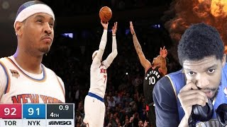 Download HESO MELO BACK TO BACK GAME WINNERS!?! RAPTORS vs KNICKS HIGHLIGHTS REACTION Video