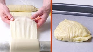 Download Wrap The Raw Dough Around A Cardboard Roll – You Won't Be Able To Get Enough Of The End Result! Video