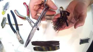Download HOW TO HAND TIE YOUR OWN BASS JIG SKIRTS with no special tools Video