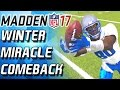 Download WINTER MIRACLE COMEBACK VS STACKED TEAM! WINTER MIRACLE! - Madden 17 Ultimate Team Video