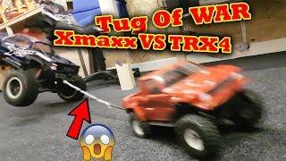 Download TUG of WAR all my RC Cars FAIL + CRASH ! Traxxas TRX-4 X-Maxx Rustler Video