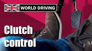 Download Clutch control driving lesson - learning to drive. Clutch control in traffic & on a hill. Video