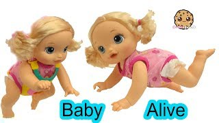 Download Babysitting Baby Alive Doll Who Really Crawls On Her Own ! Video