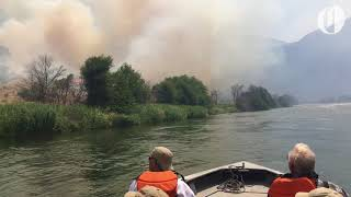 Download A view of the Substation fire from the Deschutes River Video