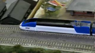 Download N scale railroad model KTX Sancheon (4) Video