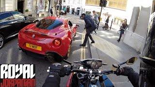 Download Alfa Romeo 4C vs Husqvarna Nuda 900R - Rev Battle Video